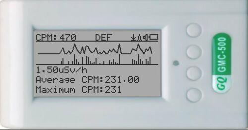 GQ GMC-500+ Geiger Counter Radiation Detector Beta Gamma X-Ray Dual tube