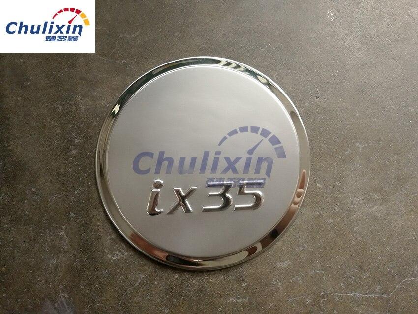 Tapa de tanque de combustible de acero inoxidable decorar las lentejuelas para Hyundai 09-16 IX35 pegatina para tapa de tanque de combustible accesorios de coche