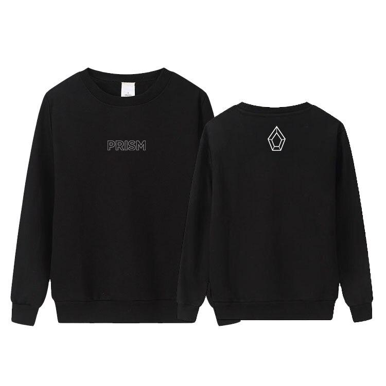 Kpop mundo turnê do PENTÁGONO prism mesma impressão o pescoço fino camisola unisex hoodies do pulôver solto k-pop