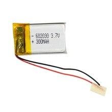 3.7V Li po Polymer li ion 300mAh Battery for Bluetooth Pen Camera GPS MP3 MP4 MP5 GPS Replacement Bateria 303040 062030 Battery