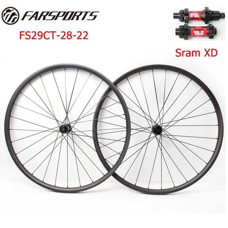 29er MTB ruedas de bicicleta de impulso con DT 240s bujes de impulso recto Tire y Sapim cx rayos 28 H, para uso XC