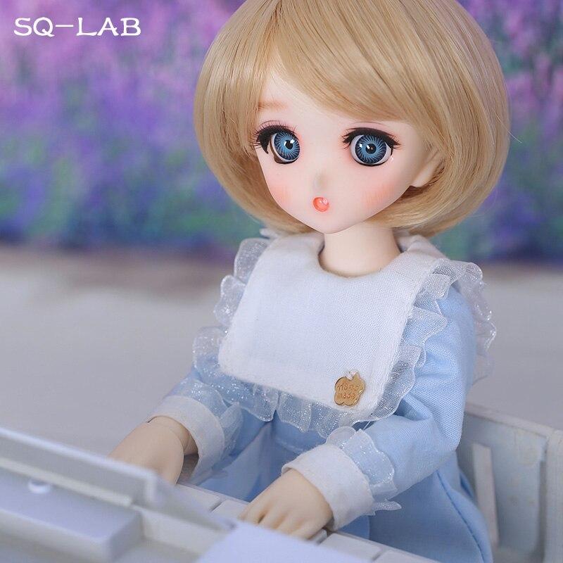 Fullset SQ Lab Chibi Ren 1/6 YoSD Lati Luts 2D Linachouchou niñas niños juguetes de alta calidad ojos zapato resina figura muñeca BJD SD