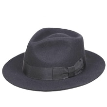 Chapeau en laine noir pour homme   Fedora classique, chapeau de Michael Jackson pour homme