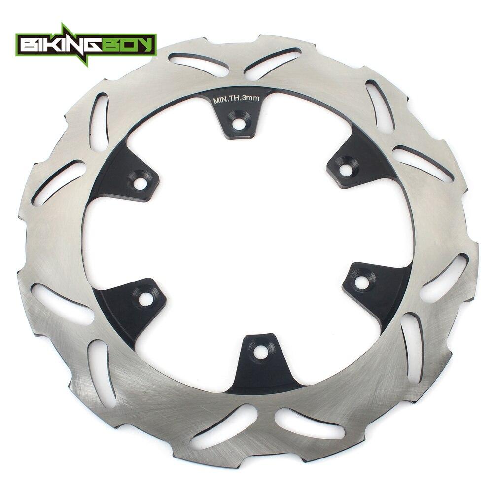 BIKINGBOY Rotor de disco de freno trasero de disco para Kawasaki KX 125 250 89-02 KDX 200 220 KX500 89-04 90 KLX 300 R 650 97 98 99 00 01 02 03
