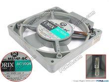 ORIX MS14F-BC AC 100V 0.15A 140x140x20mm Server Cooling Fan