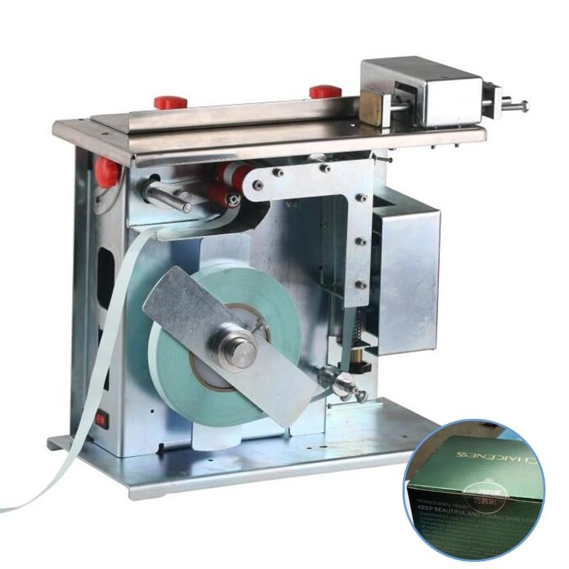 ماكينة لصق علامات زاوية 90 درجة لعلب التعبئة, شفافة ومضادة للعبث