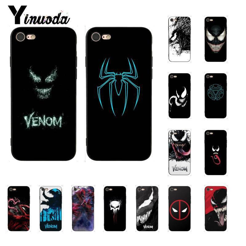Yinuoda Marvel veneno nuevo Super héroe de lujo diseño único iPhone 7 para iPhone8 7 6 6S Plus X XS X MAX 5 5S XR 11 11pro 11promax