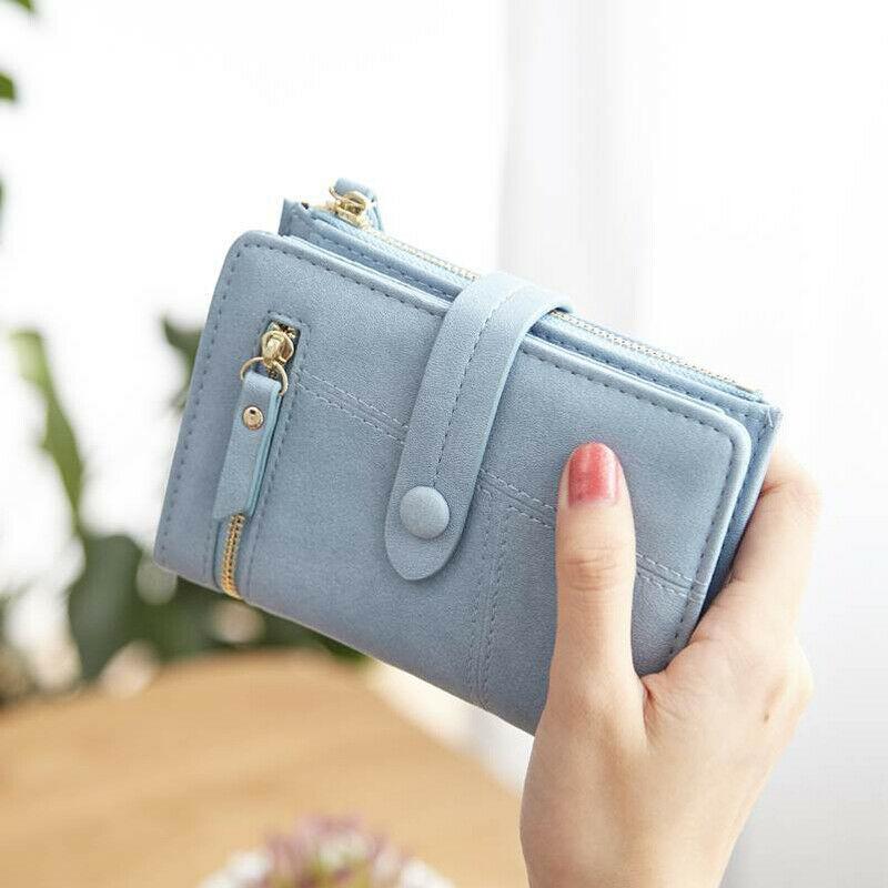 Новый Модный женский маленький кошелек из искусственной кожи Дамский короткий