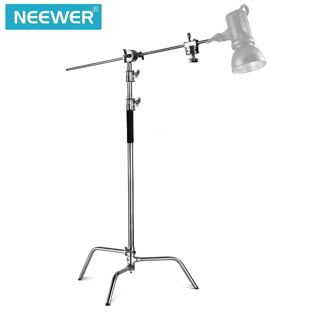 Стойка-отражатель Neewer Pro, регулируемый монолайт из 100% металла с максимальной высотой 10 футов для фотостудии