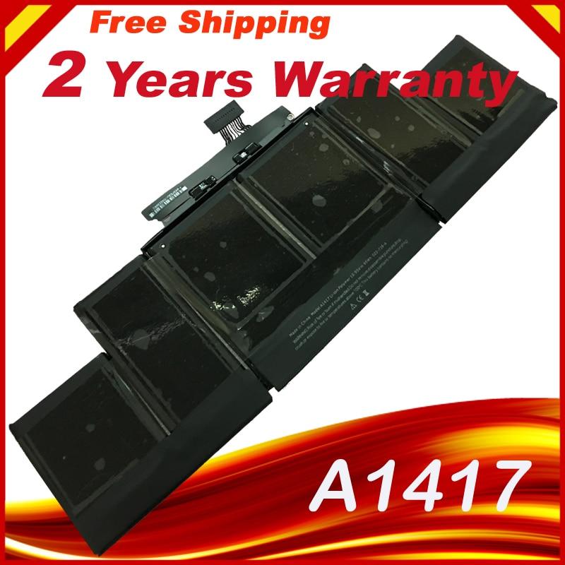 HSW A1417 Laptop Batterie für APPLE MacBook pro A1398 MC975 MC976 für MacBook Pro 15 in laptop batterie 8460 mAh für macbook prO