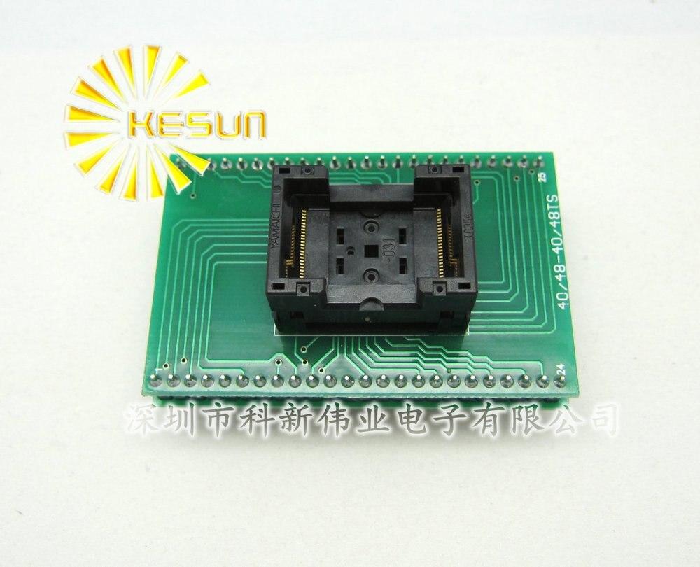 100% جديد TSOP48 SOP48 DIP48 IC اختبار المقبس/مبرمج محول/حرق في المقبس (TSOP48-DIP48)