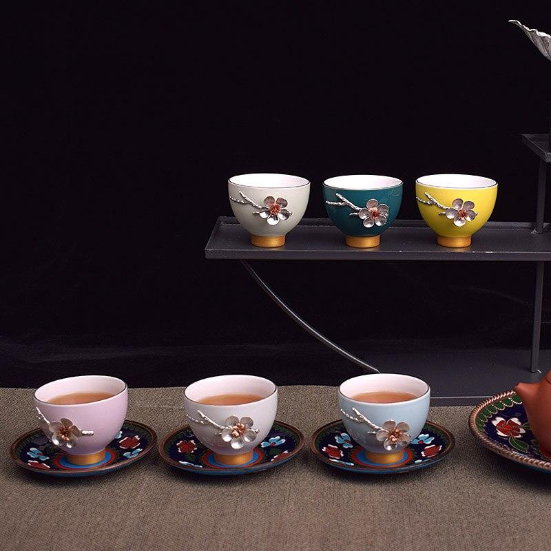 Ceramic rainbow cup tea set,kung fu teaset, teapot, gaiwan, Tureen, Tea canister,teacup,Teaware Sets gift