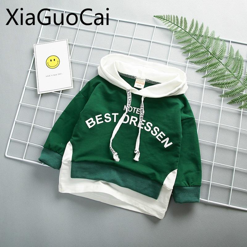 Autumn Fashion Baby Coats Long Sleeve Boy Hooded Jackets Children Baby Korean Casual Boy Hoodies
