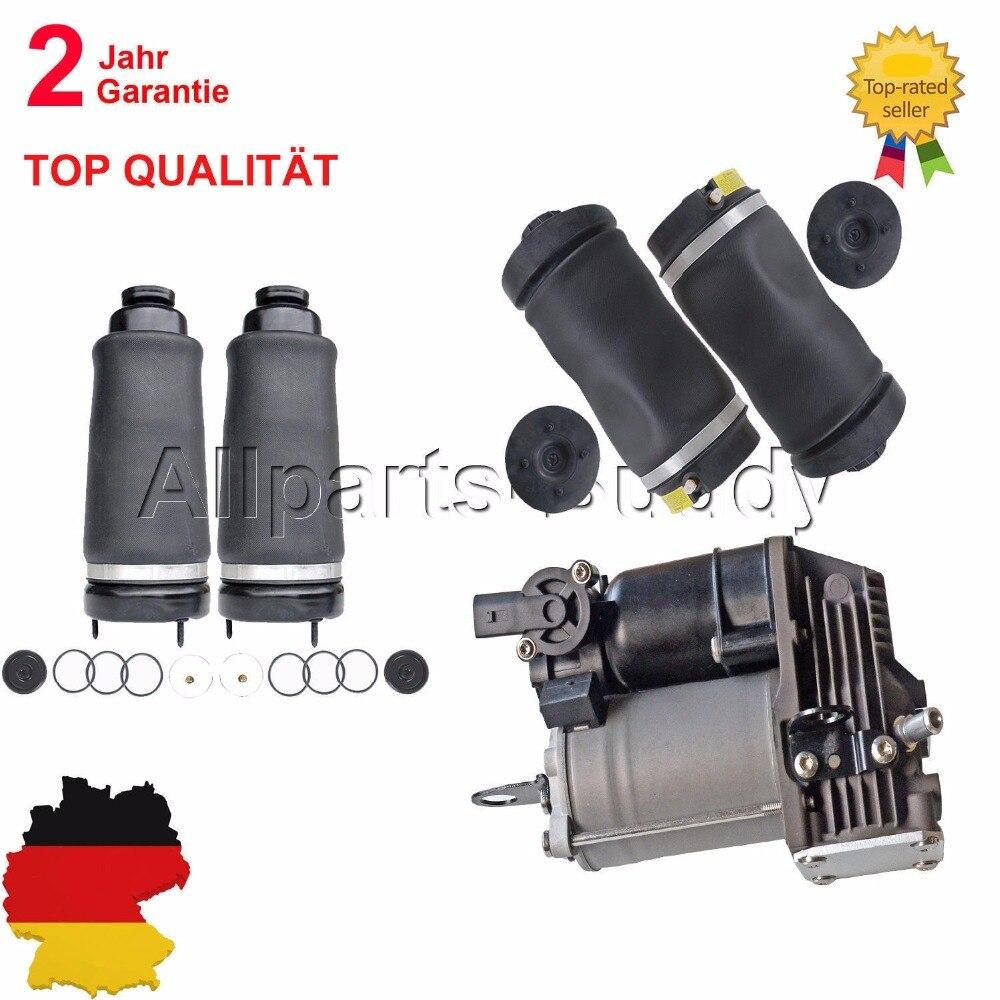 AP02 5 uds frente + suspensión neumática trasera + bomba de compresor para Mercedes W251 V251 R280 R300 R320 R350 R500 R63 Sprinter