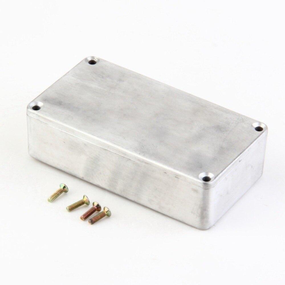 Kit de Instrumentos Musicais de Alumínio Cabo Stomp efeitos Pedal Gabinete Portátil Caixa Para Efeito de Guitarra Estilo Casos Titular