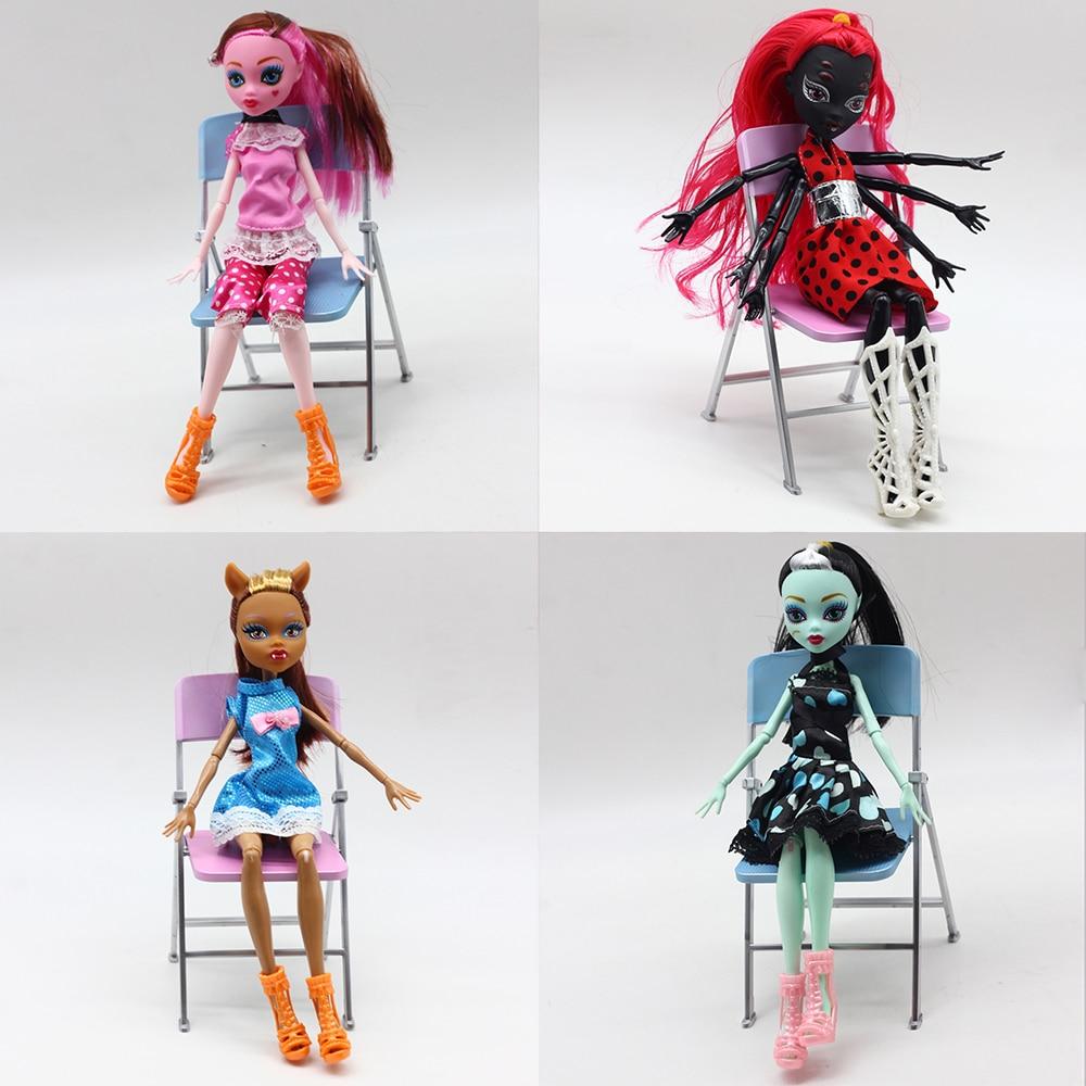 4 pièces poupées monstre Draculaura/Clawdeen Wolf/ Frankie Stein corps articulaire mobile de haute qualité filles en plastique classique jouets cadeaux