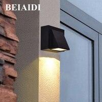 BEIAIDI Outdoor LED Wall lamp IP65 Waterproof Garden Balcony Porch Wall Lamp Corridor Fence Villa Hotel Park Aisle Wall Sconces