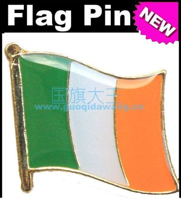 Bandera Nacional, Pin de solapa de Metal Pin Bandera de Irlanda
