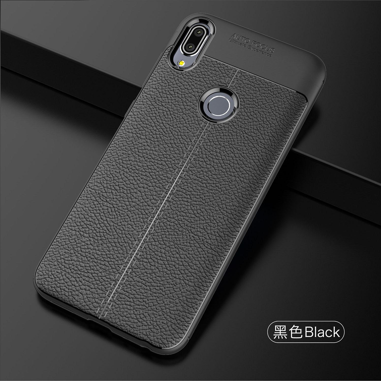 Funda de TPU suave Wolfsay para Asus Zenfone Max Pro, funda de teléfono de silicona con textura de cuero para Asus Zenfone Max Pro M1 ZB601KL
