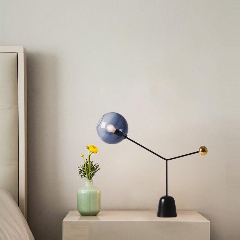 Lámparas de Mesa de decoración moderna, lámpara de escritorio de cristal de mármol para estudio, dormitorio, sala de estar, Hotel, iluminación TA039