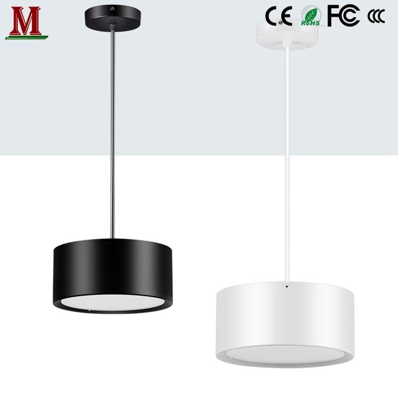LED عكس الضوء سطح شنت النازل جولة 5W/7W/12W/18W/24W/30W شنقا خط السقف الأضواء AC85-265V/110V/220V