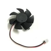 Diamètre 45mm 2pin R5 230 R7 250 R7 240 GPU VGA cooler carte graphique ventilateur de refroidissement pour XFX R7-240/250 R5-230 refroidissement des cartes vidéo