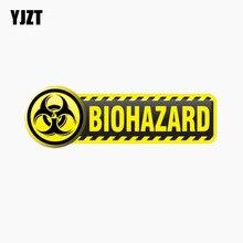 YJZT 11.7CM * 3.8CM personnalité voiture autocollant BIOHAZARD signe réfléchissant la queue de la voiture décalque C1-7673