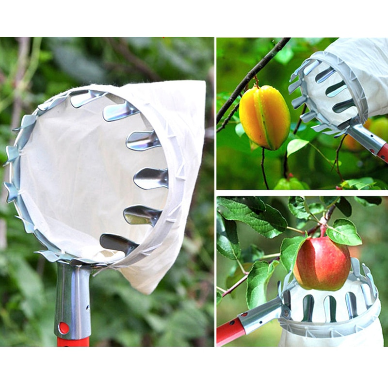 Высокое качество металла фрукты Пикер удобный садоводческий фруктовый садовые