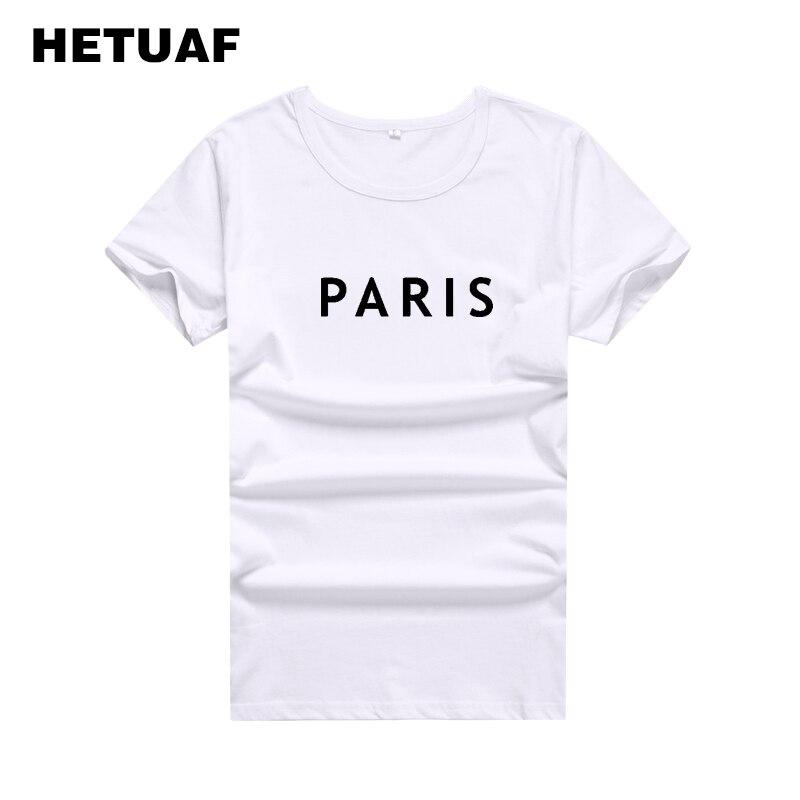 HETUAF-Camiseta de moda de París para Mujer, Tops coreanos con estilo, Camiseta...