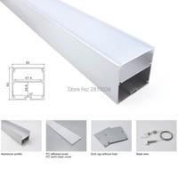50X 1M Sets/Lot 6000 series led strip aluminium profile and square type led aluminum profile for suspending or pendant lights
