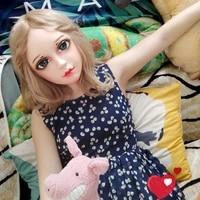 xian 3female sweet girl resin half head kigurumi bjd eyes crossdress cosplay japanese anime role lolita mask with eyes and wig