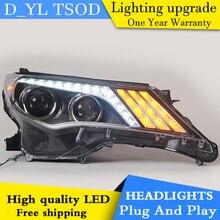 Phare de voiture style LED pour Toyota rav4 phares 2013-2015 RAV4 phare LED LED drl H7 hid Q5 bi-xénon lentille feux de croisement