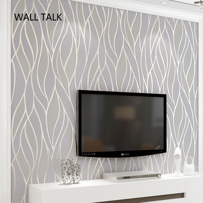 Papel De pared De línea De rayas De gamuza, Papel pintado flocado 3D para dormitorio, sala De estar, decoración del hogar, Papel De pared 3D, rollo De palacio