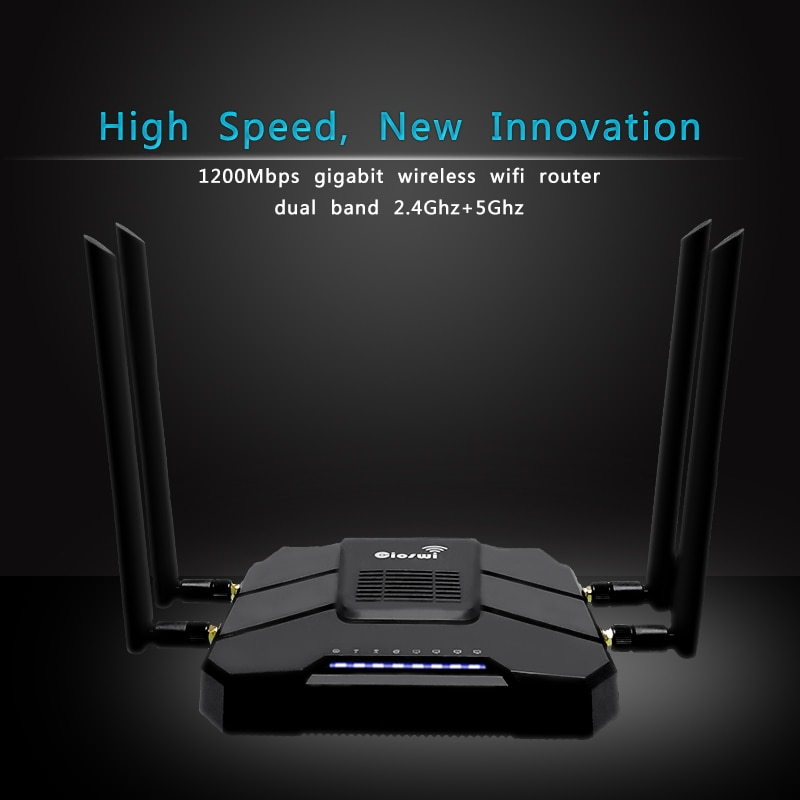 cioswi high power openwrt router 3g 4g wifi router modem with 4 lan and sim card slot smart gigabit router for usb 3 0 1200 mbps 3g 4g router sim card with 4g modem wifi with sim card slot lte router 4*5dbi high gain antennas gigabit router MT7621 Chipset