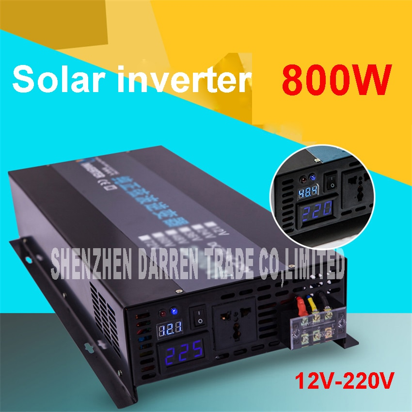 LED display Off grid solar inverter RBP-800S 12/24/48VDC to 110/220VAC 800 W nominal sinusoidal Pure Wave Power Inverter
