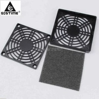 100pcs lot gdstime 90mm fan dustproof plastic 9cm computer case mesh pc dust filter black