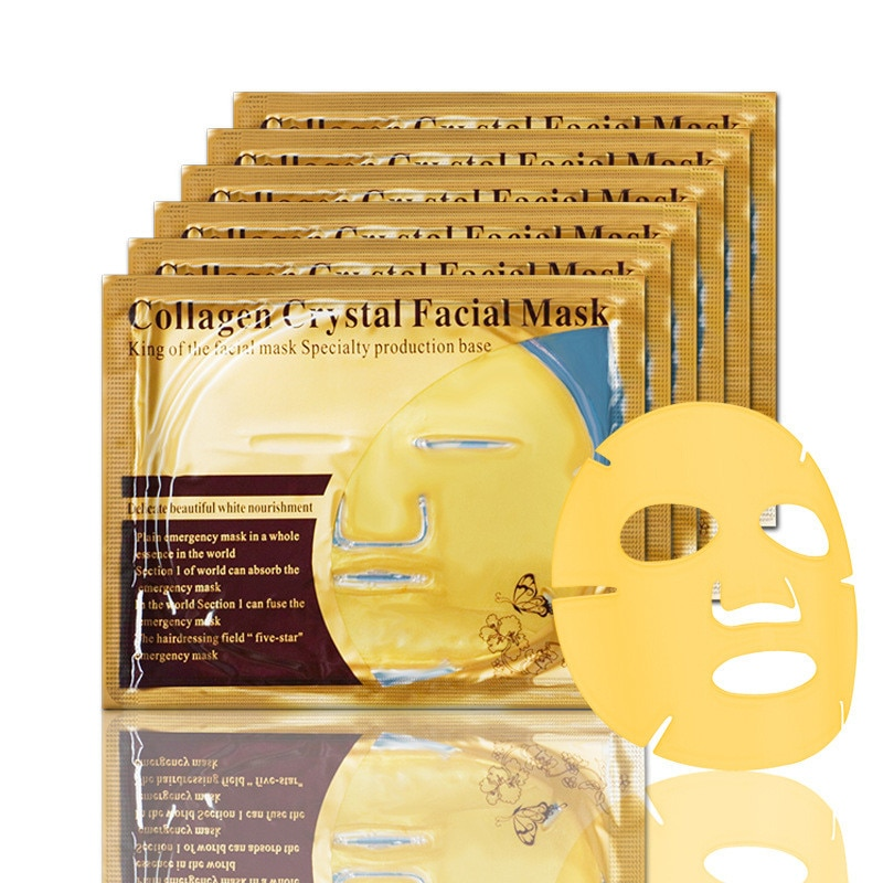 Butterfly Gold Collagen Crystal Big Face Mask Nature Anti-aging Moisturizing Whitening Facial Mask Skin Care onespring black small pig face mask whitening anti aging black mask moisturizing oil control whitening facial mask skin care