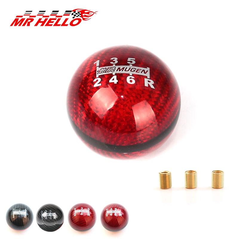 JDM стиль черный/красный линия 5/6 скорость M12X1.5/M10X1.5/M10X1.25 Mugen ручка переключения передач из углеродного волокна для Honda Acura/TOYOTA/NISSAN
