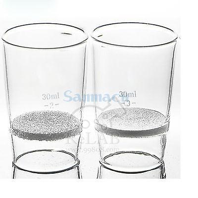 Creusets filtrants en verre 200ML numéro de trou de Gooch G2 pour laboratoire danalyse chimique