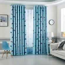 Jealous Cartoon Car Curtains Window Treatments Sheer Curtains For Kids Children Room Living Room Baby Boys Curtains