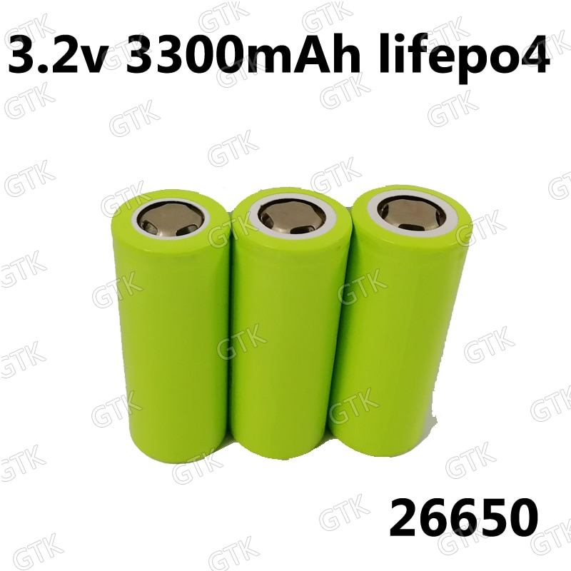 5 יחידות 3.2 v 3300 mah 26650 lifepo4 גבוהה ניקוז 20A (6C) תאי סוללה לא 26700 עבור cigrette mod LED פנס לפיד כוח כלים