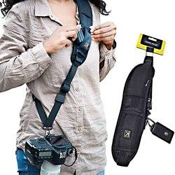 Новый портативный наплечный ремень для цифровой зеркальной фотокамеры DSLR Canon Nikon Sonys, быстрая камера, аксессуары, шейный ремень
