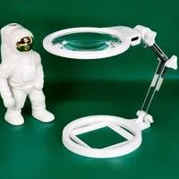 handheld portable foldable magnifier 2x 6x led light magnifier repair reading identification tool desktop magnifier