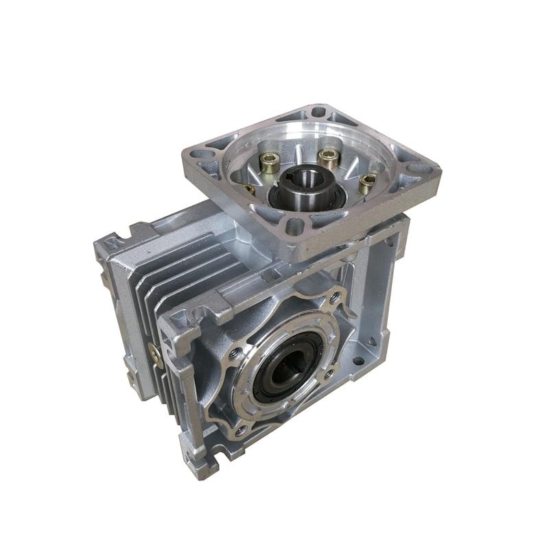 NMRV040 86 مللي متر دودة والعتاد المخفض تخفيض نسبة 5:1 إلى 100:1 المدخلات 14 مللي متر رمح ل NEMA34 محرك متدرج