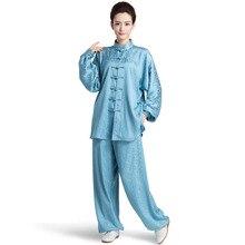 Nouveau style Longfeng modèle chinois femme Kung Fu costume Tai Chi vêtements femmes taiji uniforme wushu kung fu vêtements 4 couleurs