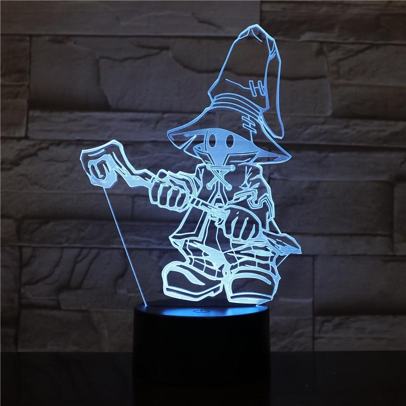 Game FINAL FANTASY IX Night Light LED Touch Sensor Decorative Lamp Birthday Holiday Festival Gift VIVI Ornitier 3D Table Lamp