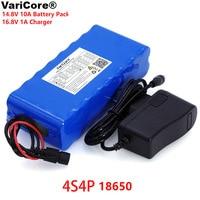 VariCore 14.8V 10Ah 18650 li-iom battery pack night fishing lamp heater miner's lamp amplifier battery with BMS+16.8V Charger