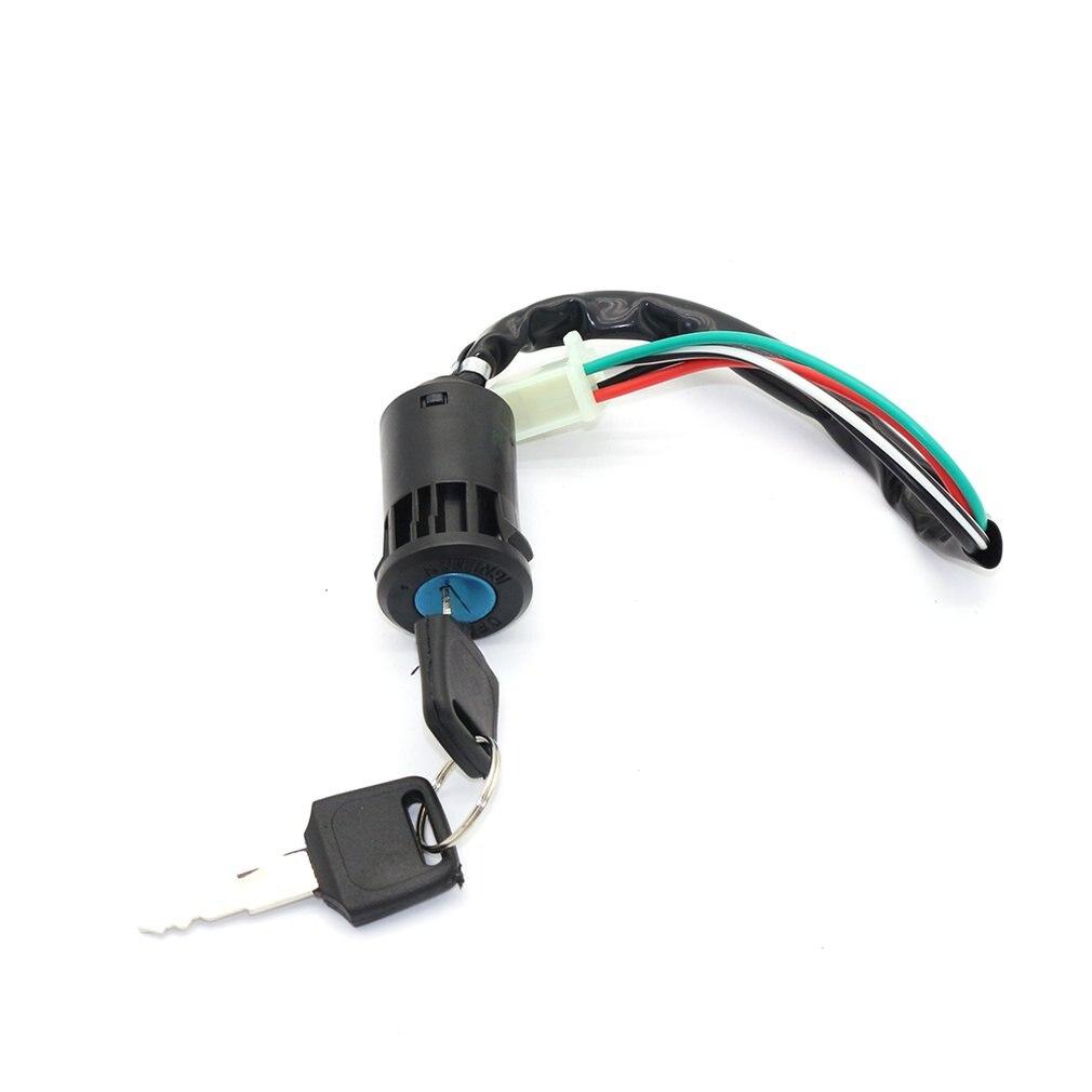 Interruptor chave do tambor da ignição de 4 fios para 50cc 110cc 125cc 250cc pit quad bicicleta da sujeira atv