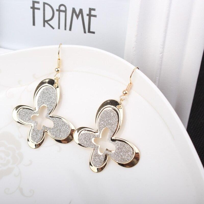 SUKI Women's Earrings 2019 Summer Matte Colored Clover Flower Drop Earrings 3 Colors Floral Earring for Women Fashion Jewelry