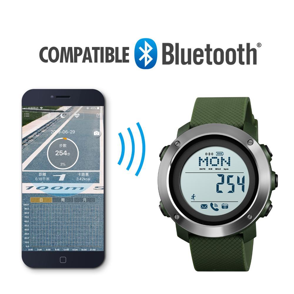SKMEI Smart Watch Fashion Sport Men Watch Life Waterproof Bluetooth Magnetic Chargeing Electronic Compass Smartwatch Sports 2019